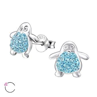 Penguin - 925 Sterling Silver Crystal Ear Studs - W24685X