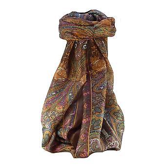 桑絹の伝統的な長いスカーフ Godavary 栗パシュミナ ・ シルクで