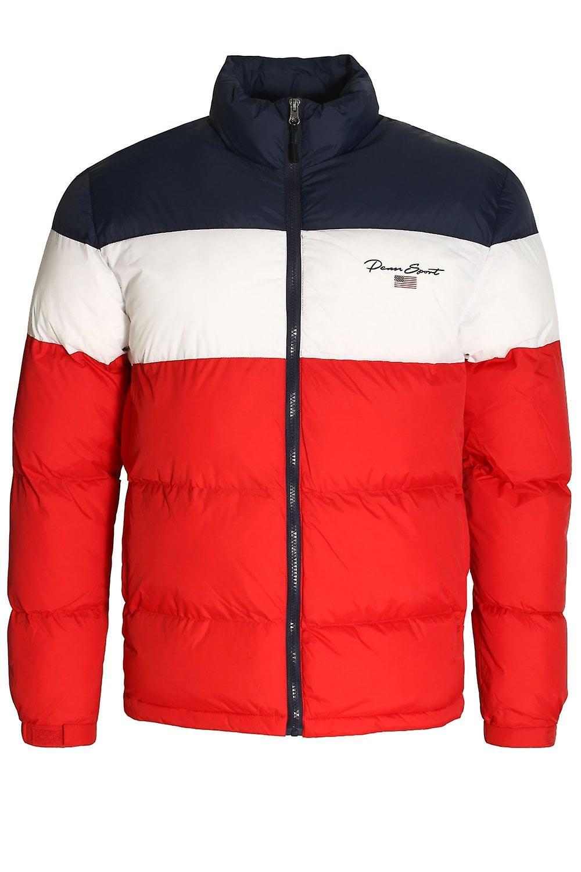 Penn Sport Block Panel Puffer veste   rouge