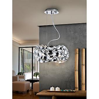 Schuller Narisa 32cm 3 Bulb LED Chrome Ceiling Pendant