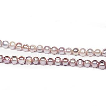 Strand 50+ Lilac Freshwater Pearl 6-7mm Round Potato Beads FP1707-1
