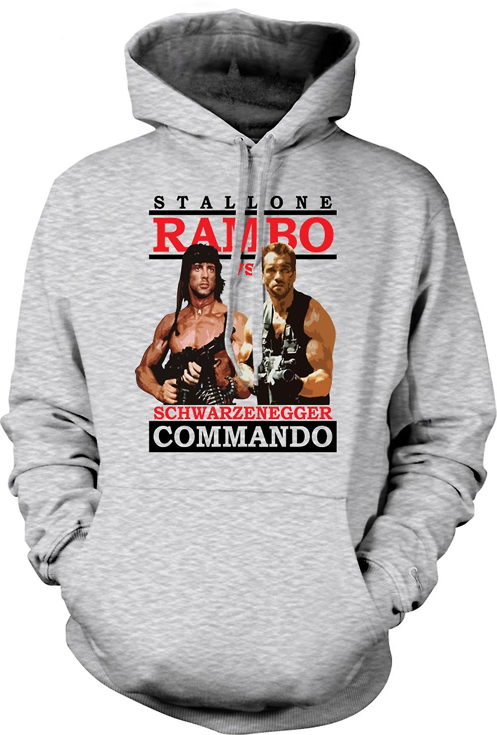 Mens Hoodie - Rambo oder Commando - Action - Held