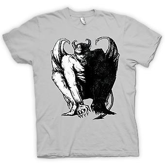 Mens T-shirt - Devil Satan Sketch - Horror