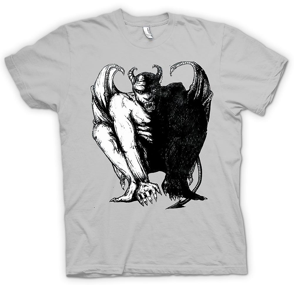 Mens T-shirt - Devil Satan Sketch - Horror