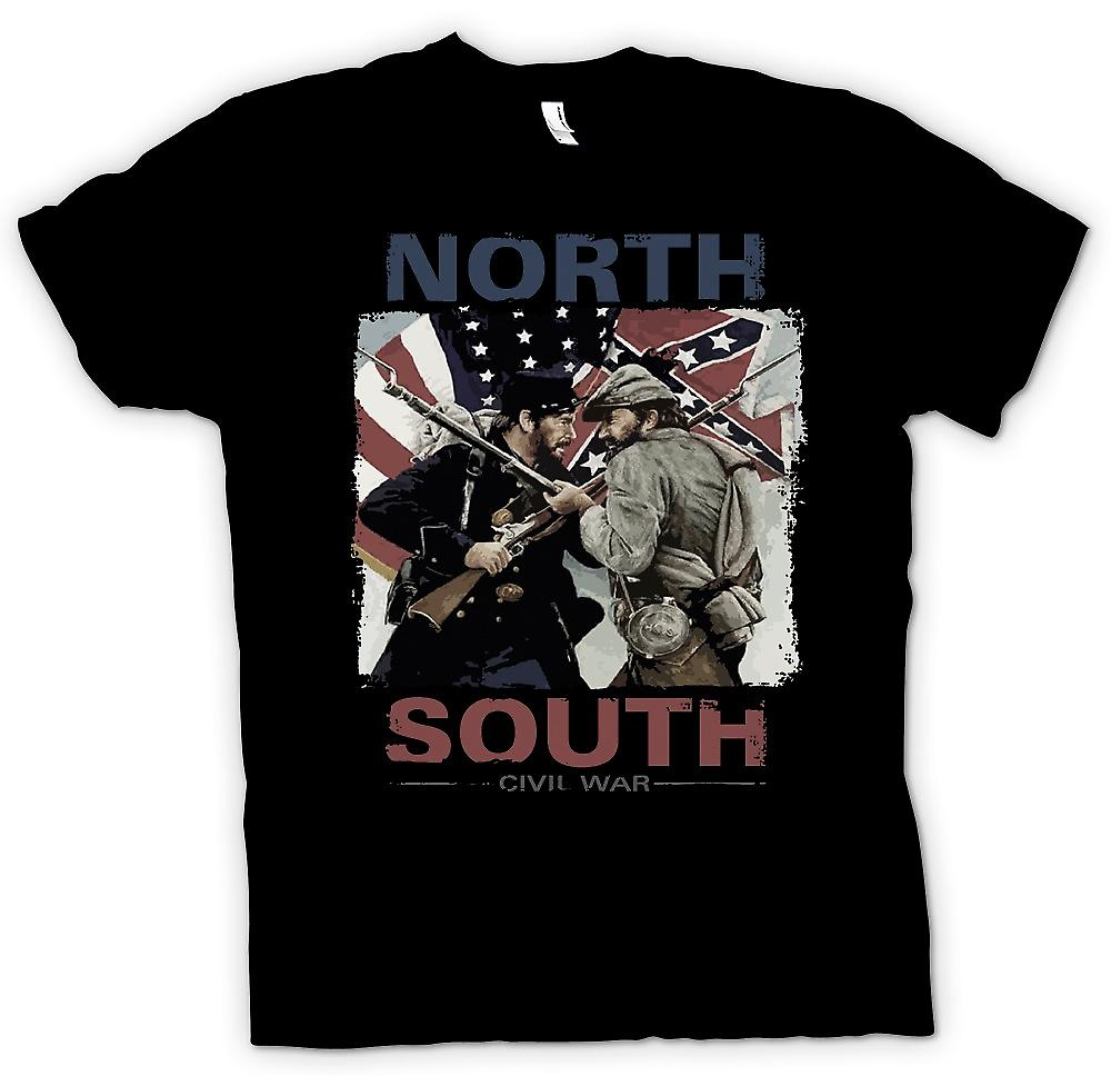 Womens T-shirt - North South inbördeskriget - amerikanska inbördeskriget
