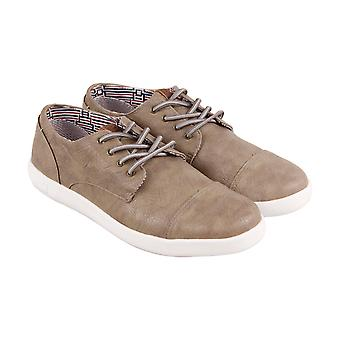 6bb03a4d39 Ben Sherman Presely Cap Toe Mens Brown Leather Low Top Lace Up Sneakers  Shoes