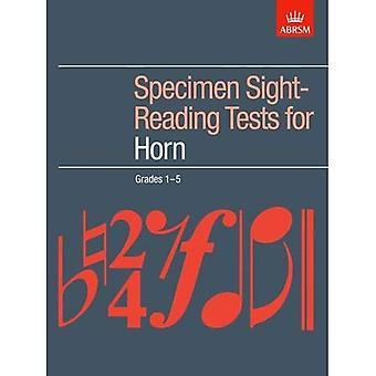 Specimen Sight-Reading Tests for Horn, Grades 1-5 (ABRSM Sight-reading)