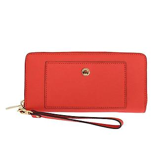 Michael Kors Red Greenwich Continental Leather Wallet -- MK10913776