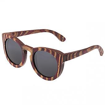 Spectrum Dorian hout gepolariseerde zonnebril - Cherry Zebra/zwart