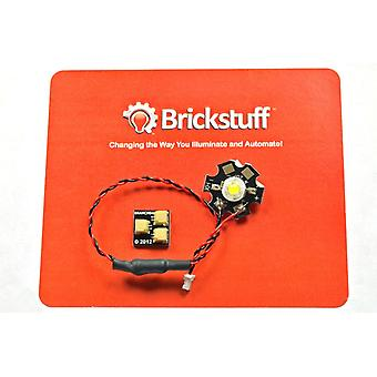 Brickstuff High-Power Warm White LED for the Brickstuff LEGO Lighting System - LEAF01H-WW-1PK