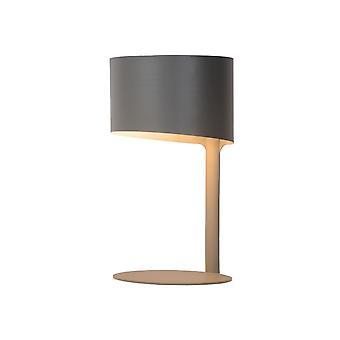 لسيد كنول الحديثة جولة مصباح طاولة رمادية معدنية