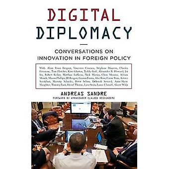 Conversaciones de diplomacia digital sobre innovación en la política exterior de Sandre y Andreas