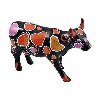 Vaca de vaca desfile-ween de corazones (cerámica mediana)
