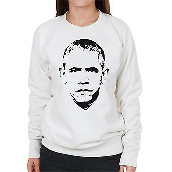 Barack Obama Gesicht Damen Sweatshirt