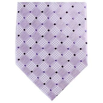 Knightsbridge Neckwear Diamond Tonal Regular Polyester Tie - Purple