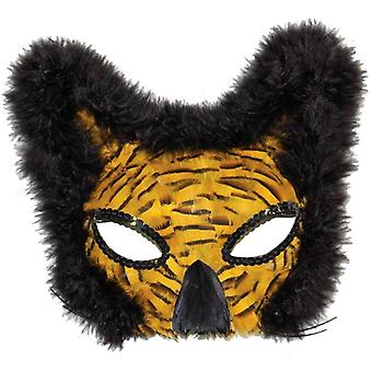 Mask Lion Feather Gold For Adults