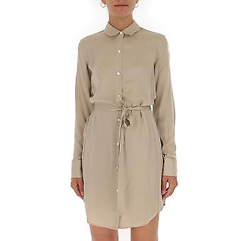 Theory Beige Silk Dress
