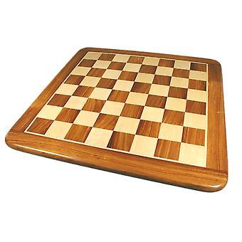 21 Inch Sheesham & Maple Thick Veneer Chess Board