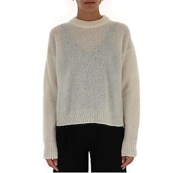 Laneus White Wool Sweater
