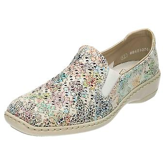 Rieker Slip On Low Heel Leather Shoes 413Q6-90