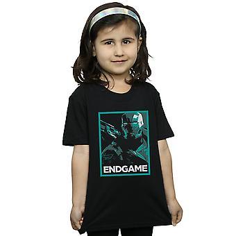 Marvel jenter Avengers Endgame War Machine plakat t-skjorte
