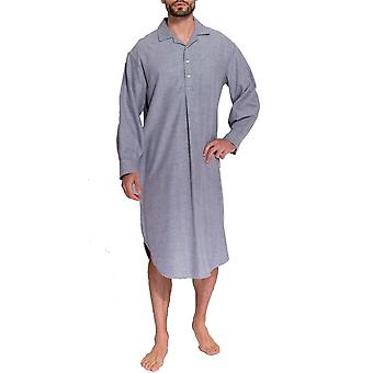 British Boxers Ash Grey Herringbone Men's Nightshirt