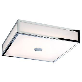 Firstlight-LED badkamer flush plafond licht chroom, polycarbonaat diffuser IP44-3463CH