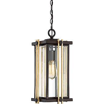 Elstead-1 Light medium kæde lanterne-bronze finish-QZ/GOLDENROD8/M