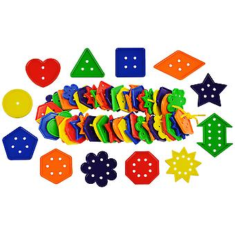 Bigjigs Toys Educational 12 Shape, Number and Geometry Buttons Math Count Sort