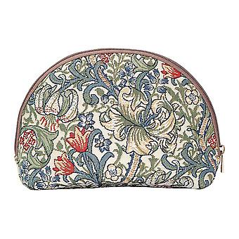 William morris - golden lily big cosmetic bag by signare tapestry / bgcos-glily