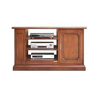 TV-kast met een deur en planken