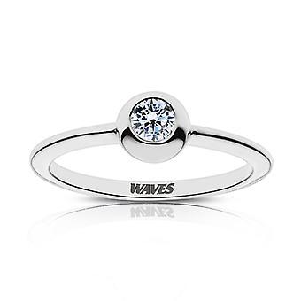 Pepperdine University Waves indgraveret diamant ring