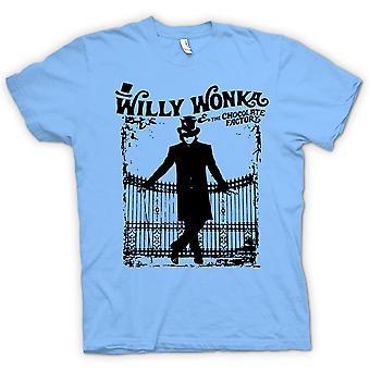 Kids t-skjorte-Willy Wonka og sjokoladefabrikken - BW