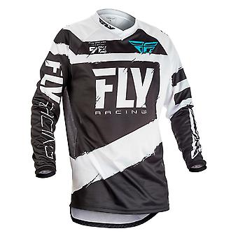 Fly Racing Grey-Black 2018 F-16 Kids MX Jersey