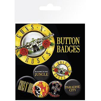 Guns N Roses tekster og logoer Badge Pack