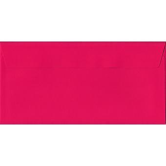 Chockerande rosa skal/tätning DL + färgade rosa kuvert. 120gsm Luxury FSC-certifierat papper. 114 mm x 229 mm. plånbok stil kuvert.