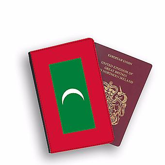 MALDIVES Flag Passport Holder Style Case Cover Protective Wallet Flags design