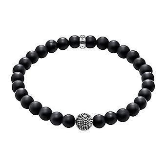 Thomas Sabo FASHIONNECKLACEBRACELETANKLET-handled juvel-med Onyx-silver-20,5