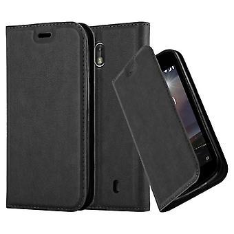 Cadorabo-kotelo Nokia 1 2017-kotelolle-Puhelin kotelo, jossa magneetti suljin, stand-toiminto ja kortti kotelon lokero-kotelo suoja kotelo kotelo, kotelo, kotelo