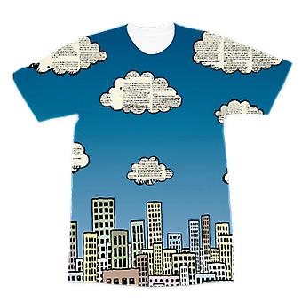 The city of paper clouds premium sublimation adult t-shirt