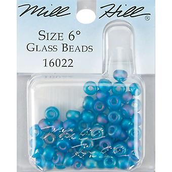 Mill Hill Glass Beads Size 6 0 4Mm 5.2 Grams Pkg Frosted Opal Capri Gbd6 16022