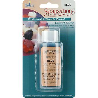 Soapsations Liquid Color 1 Ounce Bottle Blue Lc600 253