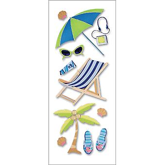 A Touch Of Jolee's A Day At The Beach Dimensional Stickers Sunbathing Spjjb 132