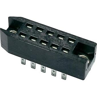 Telegärtner J00040A0901 Terminal Block, Pitch 2.54, DIN 41618 Terminal block Number of pins: 10