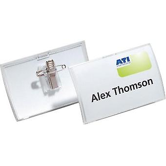 Nameplate Click Fold with combination clip Durable