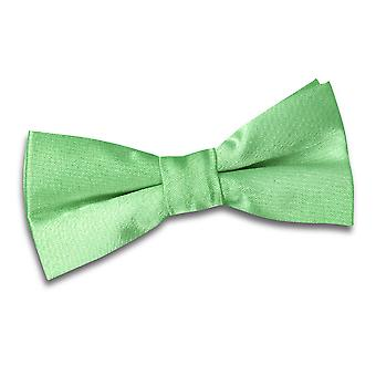 Boy's Plain Lime Green Satin Bow Tie