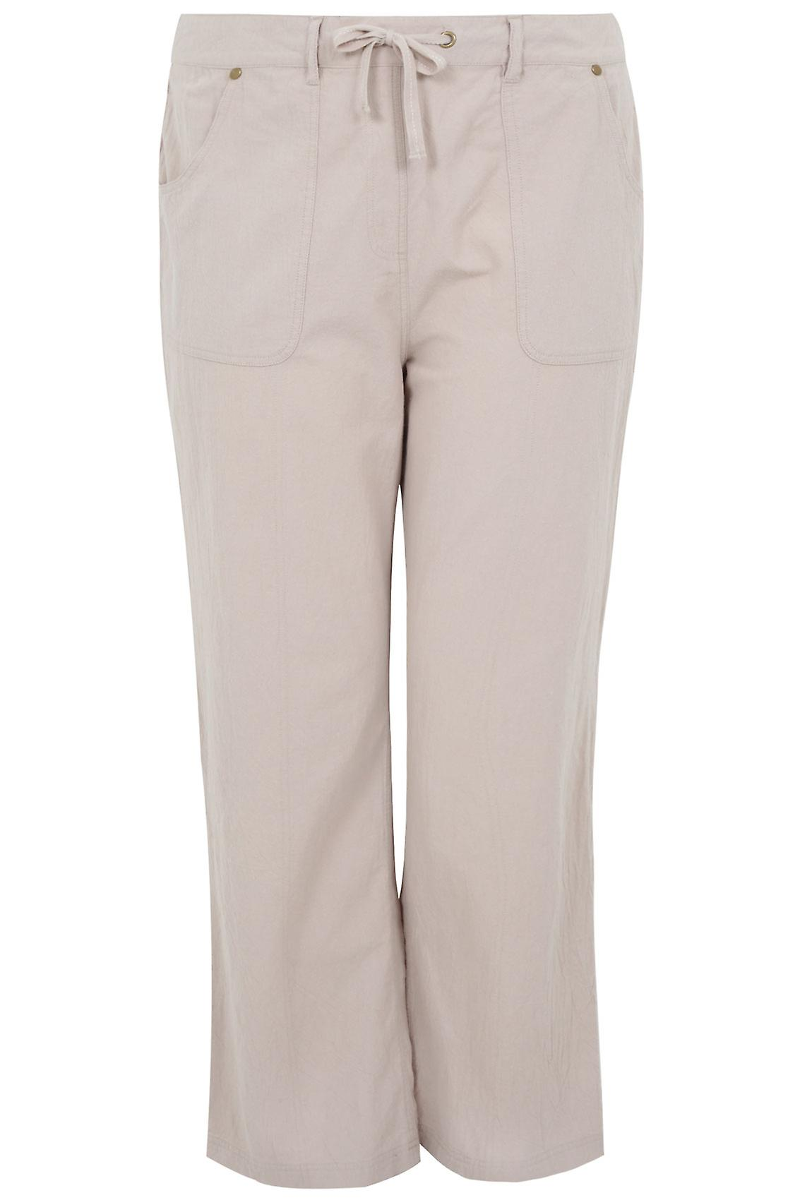 Stone Full Length Cool Cotton Trousers