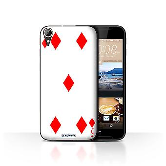 STUFF4 Case/Cover for HTC Desire 830/5 of Diamonds/Playing Cards