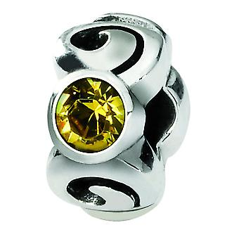 Argent sterling réflexions Nov Swarovski Element Bead Charm