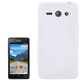 Mobile case white silicone case (S-curve) for mobile Huawei Ascend Y530